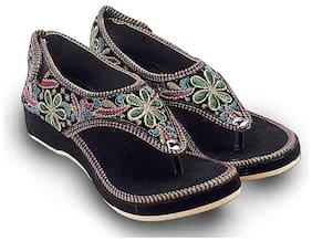 RA-Rock Women Black Sandals