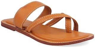 RA-Rock One Toe Flats For Women ( Tan )