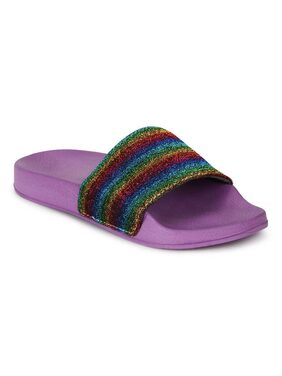 Truffle Collection Rainbow Slip-On Flats