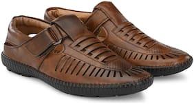 RAY J Men Brown Sandals