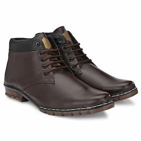 RAY J Men Brown Ankle Boots - RJ12010-BROWN - RJ12010