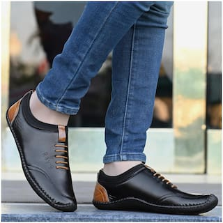 RAY J Casual Shoes For Men ( Black )