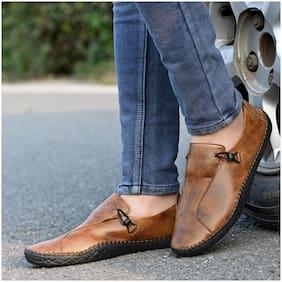 RAY J Men Tan Casual Shoes - 3005