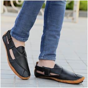 RAY J Men Black Shoe-Style Sandals