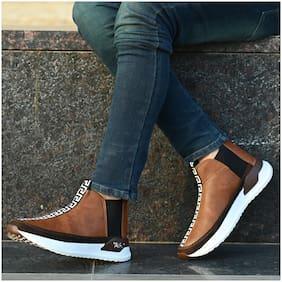 RAY J Men Tan Outdoor Boots - RJ7790-TAN - RJ7790