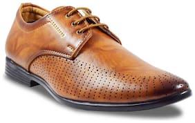 RebelBe Men's Tan Formal Shoes