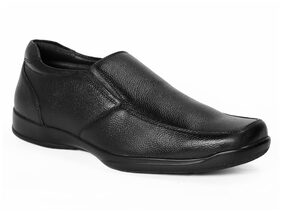 Red Chief Men's Black Formal Leather Shoes Rc3500 001