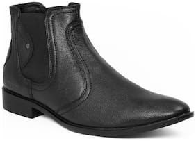 Red Chief Men's Black Ankle Boots