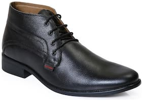 Red Chief Men's Black Formal Leather Shoes Rc2381 001