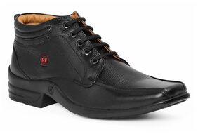 Red Chief Men's Black Casual Leather Shoes Rc3509 001