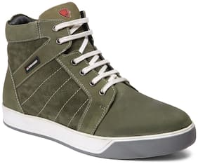 Red Chief Men Green Sneakers -