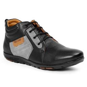 Red Chief Men's Black Casual Leather Shoes Rc1364A 001