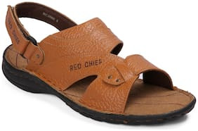 Red Chief Men Tan Sandals