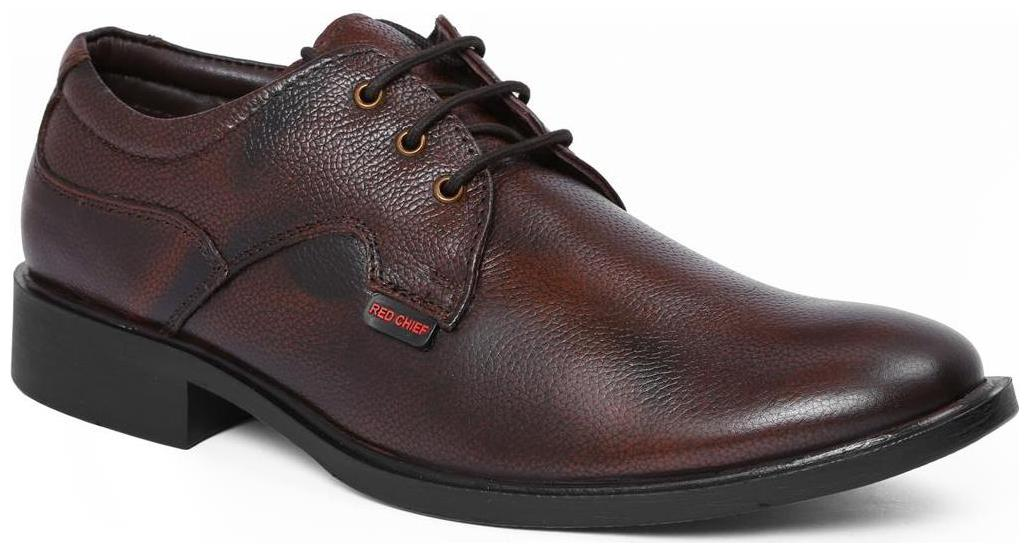 Red Chief Men Brown Derby Formal Shoes