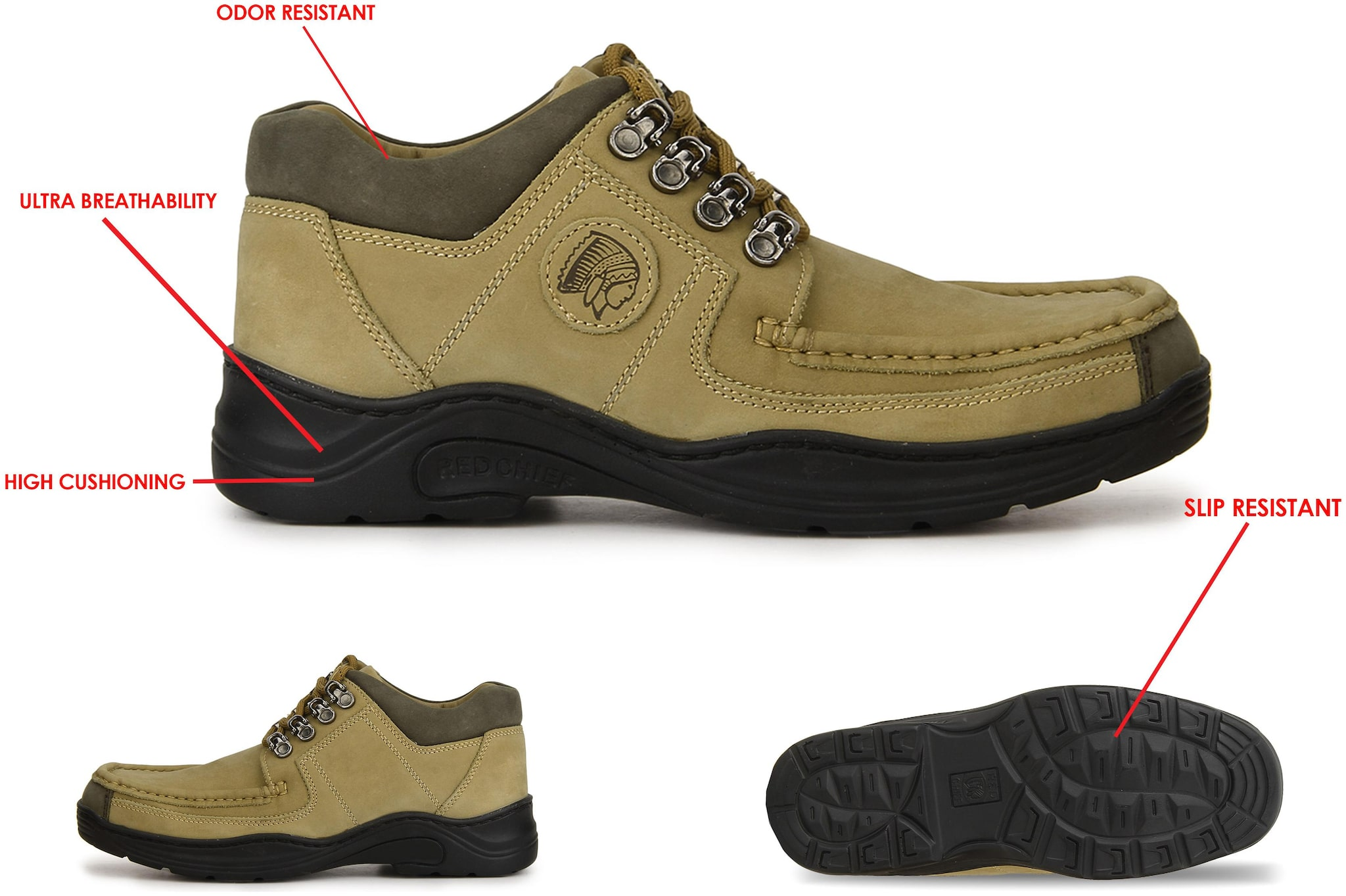 Brown Casual Leather Shoes Rc1200 004