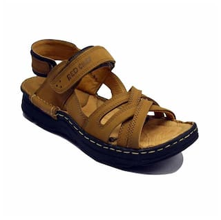 d1711cdc1 Buy Red Chief Men Tan Sandals   Floaters Online at Low Prices in ...