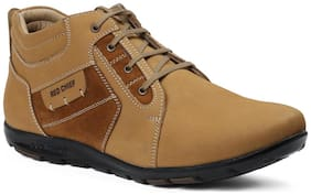 Men Tan Outdoor Boots