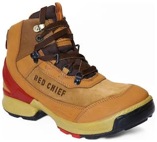Red Chief Men Tan Outdoor Boots - HIGH ANKLE