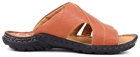 Red Chief Men's Tan Casual Leather Slipper Rc0377 107
