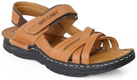 Red Chief Men's Tan Casual Leather Sandal Rc0579 107
