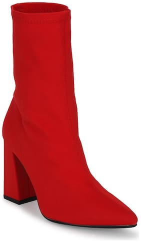 Truffle Collection Women Red Ankle length Boots