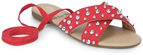 Truffle Collection Women Red Sandals