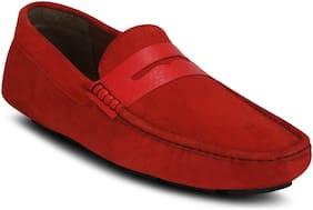 Get Glamr Men Red Loafer - Loafers
