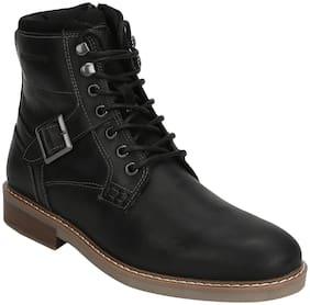 Men Black Outdoor Boots ,Pack Of 1 Pair