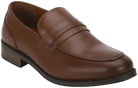 Men Brown Slip-On Formal Shoes