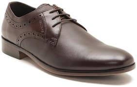 Men Brown Derby Formal Shoes ,Pack Of 1 Pair