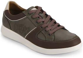 Men Brown Classic Sneakers ,Pack Of 1 Pair