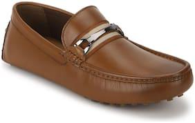 Men Tan Loafers