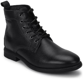 Men Black Ankle Boots ,Pack Of 1 Pair