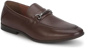 Men Brown Slip-On Formal Shoes ,Pack Of 1 Pair