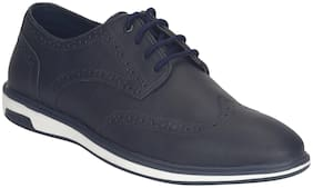 Men Navy Blue Brogues Formal Shoes ,Pack Of 1 Pair