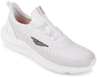 Red Tape Walking Shoes For Men ( White )
