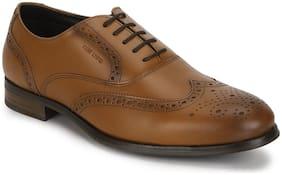 Men Brogues Formal Shoes ( Tan )