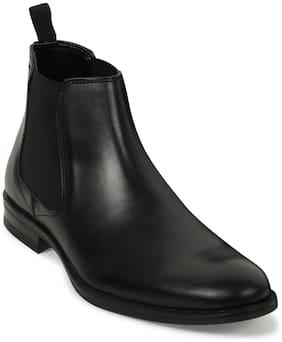 Men Black Chelsea Boots ,Pack Of 1 Pair