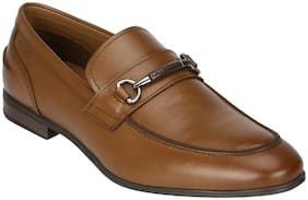 Red Tape Men Tan Leather Loafers