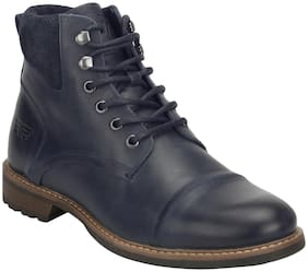 Men Blue Ankle Boots ,Pack Of 1 Pair