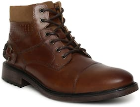 Men Tan Ankle Boots