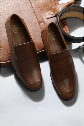 Men Slip-On Formal Shoes ( Tan )