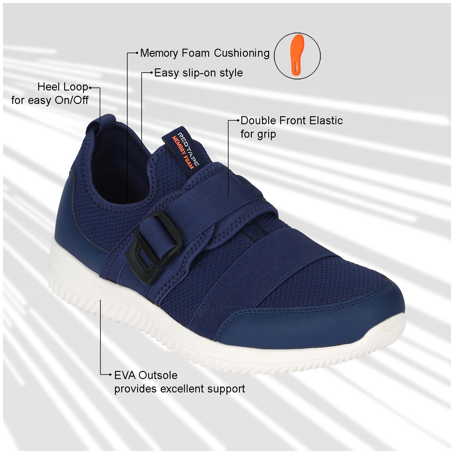 Red Tape Men Walking Shoes ( Navy Blue