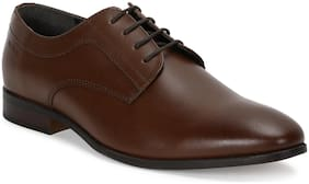 Men Brown Derby Formal Shoes ,Pack Of 1 Pair