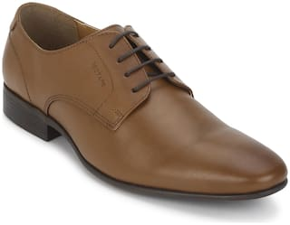Red Tape Men Tan Derby Formal Shoes - PLAIN VAMP DERBY - RTE2333