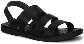 Red Tape Men Black Sandals