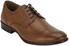 Men Tan Derby Formal Shoes