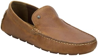 Red Tape Men Tan Loafers - DRIVING SHOE - RTS11215B