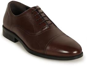 Men Brown Oxford Formal Shoes ,Pack Of 1 Pair
