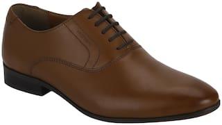 Red Tape Men Tan Oxford Formal Shoes - OXFORD - RTE1943